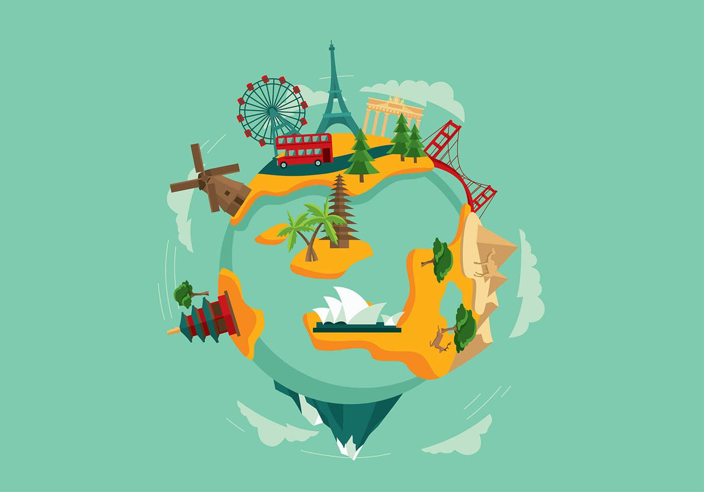 world-travel-free-vector